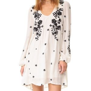 Free People Sweet Tennessee Trapeze Embroidered